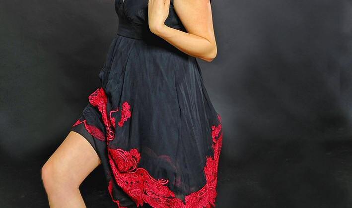 Aude in spaanse jurk(5)